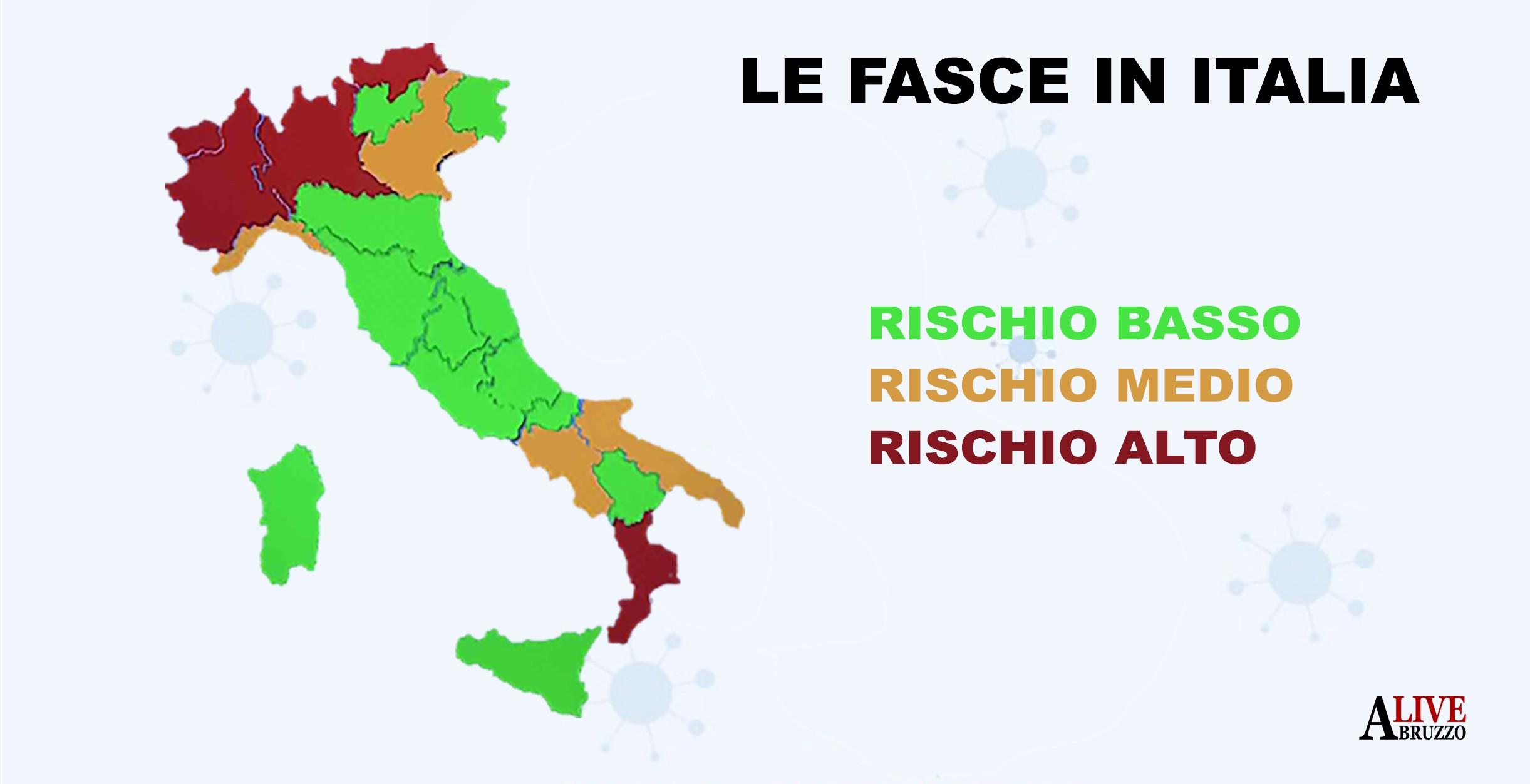 Cartina Italia Abruzzo.Coronavirus Abruzzo E Altre Tre Regioni Verso La Stretta E Caos Bollettini Abruzzolive